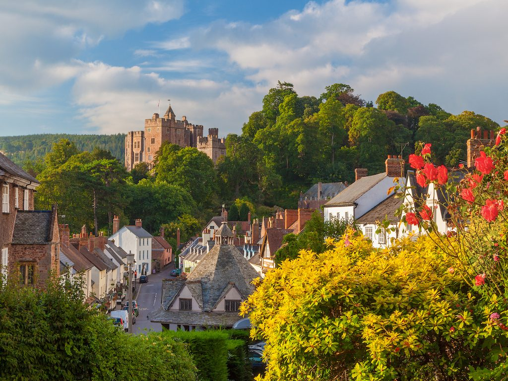 Dunster Castle and Village